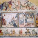 Le tentazioni a Sant'Antonio abate, al centro